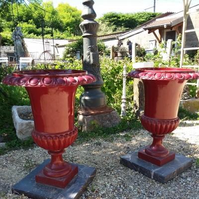 VASES FONTE - Décoration de jardin