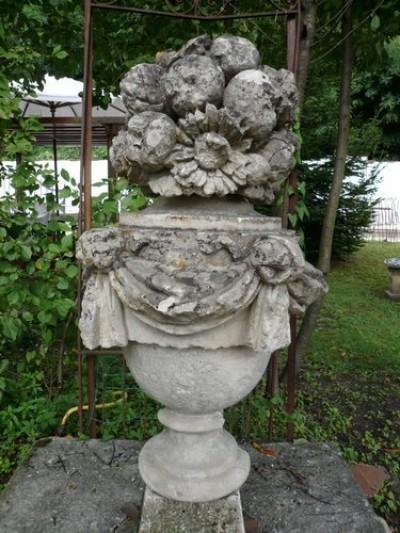 VASE D'ALCOVE EN PIERRE  - Antiquités de jardin