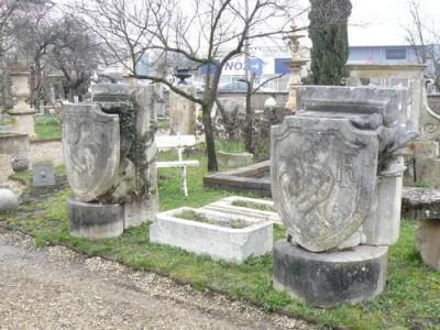 Paire de blasons en pierre - Antiquités de jardin