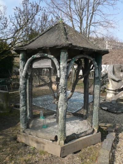 Taubenschlag Weg Baumstamm - Garten Ornamente