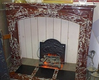 Antique fireplace of time Napoleon III style Louis XIV - Antique fireplaces