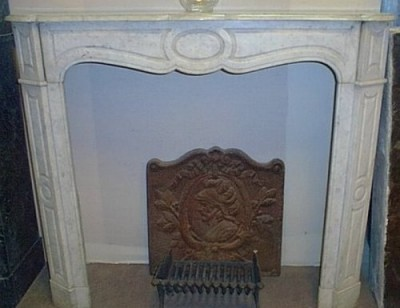 Antique fireplace of time Napoleon III style Pompadour - Antique fireplaces
