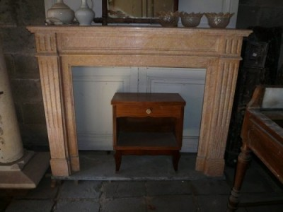Small fireplace of time Napoleon III style Louis XVI - Antique fireplaces