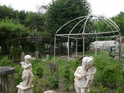 Majestätische paar Schmiedeeisen Pavillons - Garten Ornamente