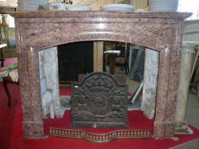 Old fireplace of Napoleon III era - Antique fireplaces