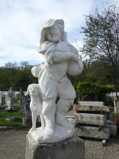 SCULPTURE MARBRE  - Antiquités de jardin