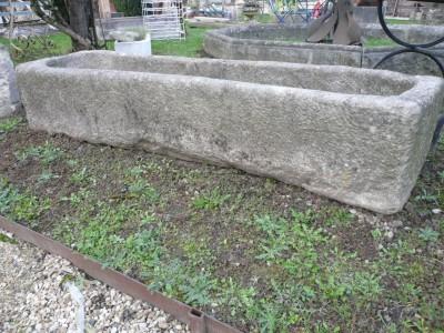 Bac rectangulaire en granit - Antiquités du Batiment