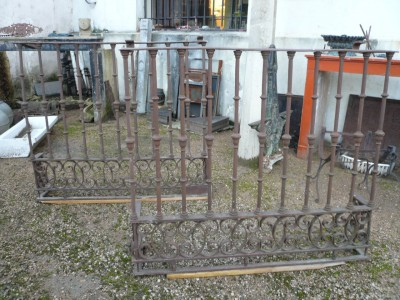XVIIIeme Balcony pair in wrought iron - Building Antiques