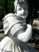 STATUE MARBRE BLANC - Antiquités de jardin