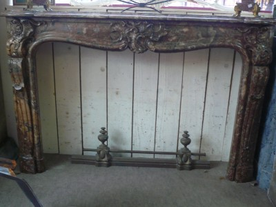 LOUIS XV FIREPLACE - Antique fireplaces