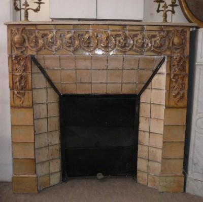 ART NOUVEAU FIREPLACE - Antique fireplaces